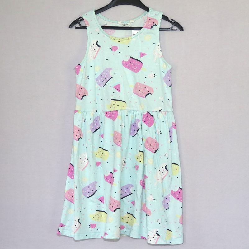 Randig klänning med rosa kjol Åsumtorps Secondhand