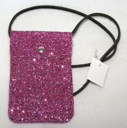 7fecab9845e Glittrig rosa mobilväska - Åsumtorps Secondhand